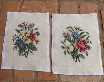 Needlepoint Set 2 Piece Floral