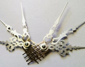 Frost Shards Hair Comb Set Steampunk Accessory