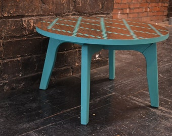 Mid Century Side table painted with Chalk Paint® by Annie Sloan