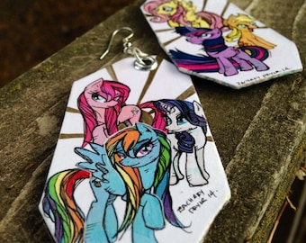 Friendship is Magic - hand-painted My Little Pony earrings