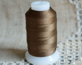 Cord Thread Chestnut Brown Purely Silk Spool Sizes E-FFF 92-200 Yard Spool