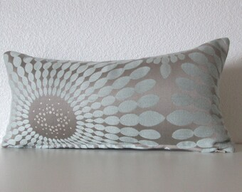 Candice Olson gray silver muted blue Jubilant hush mini lumbar designer pillow cover