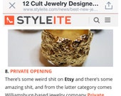 As seen on Styleite.com and Fab.com Nest Ring ON SALE