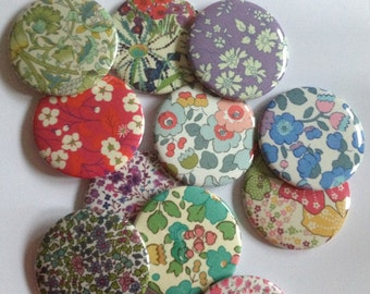 Pocket mirror - Liberty fabric pocket mirrors - compact mirror - handbag mirror - stocking fillers - gift for her - stocking stuffers-