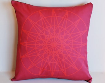 Throw pillow for couch Geometric decorative pillow cover,  16x16.  geo print 04