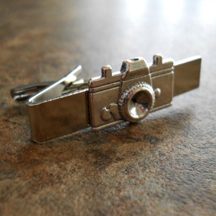Camera Tie Bar : Photobug men s camera tie bar clasp in antiqued silver by