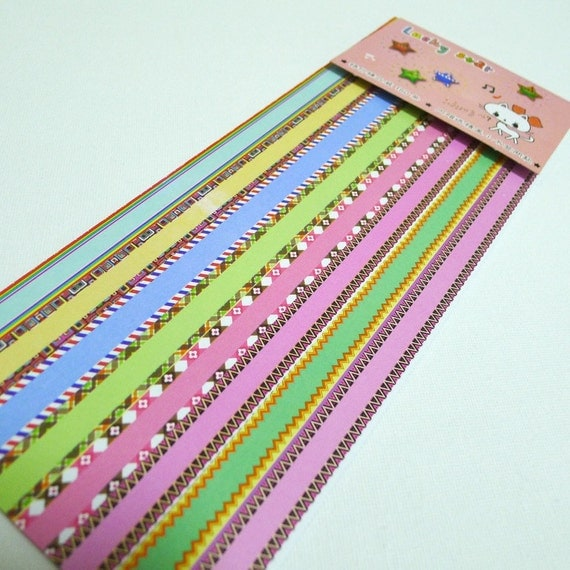 Motif edge origami lucky star folding paper pack of for Lucky star folding