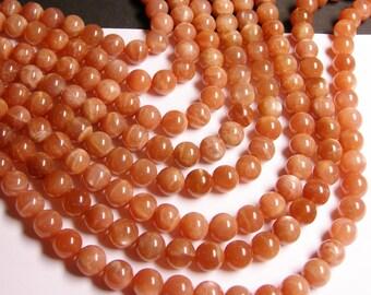 Peach Moonstone - 10mm  round beads -1 full strand - 39 beads - RFG1153