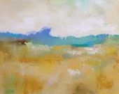 Colorful Yellow Abstract Landscape Painting -Duncan's Mills View