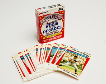 1987 Topps Kmart MLB Baseball's Stars of the Decades Complete Set