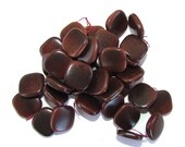15 Tagua Nut Beads, Flat Squares, 14mm, Brown, Natural Beads, Organic Beads, Vegetable Ivory Beads, EcoBeads