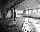 Empty and Forgotten School Forsaken Architecture 5x7 Inch Photographic Print
