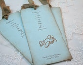 Airplane Favor Baby Shower Bookmark Personalized You Choose Ribbon Color Set of 10