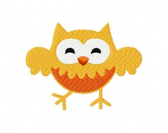 Dancing Owl Machine Embroidery Design INSTANT DOWNLOAD