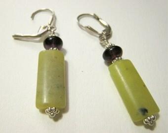 Jadeite and Ametrine Earrings
