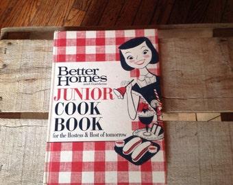 Better Homes & Gardens Junior Cookbook Vintage