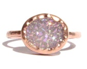 SALE! : Druzy Quartz & Solid Rose Gold Ring - Druzy -Gemstone Ring -Engagement Ring -Thin Gold Ring -Bridal Ring - Statement -Made To Order.