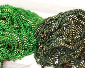 shiny green and dark green chains