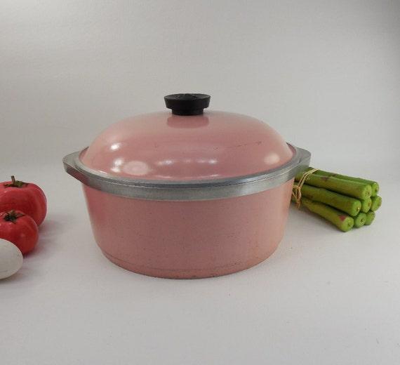 Club Aluminum 4 Qt Dutch Oven Pot Lid Pink By Oldetymestore