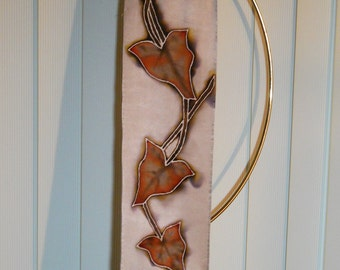 Brown Ivy Silk Wall hanging 6 inches by 21 inches