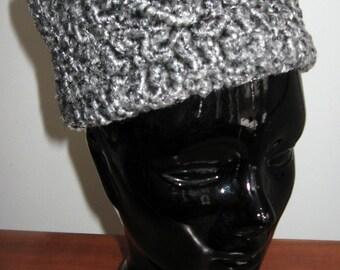 Grey Sheepskin Faux Fur Hat / Russian Style Hat / Kossack Style Hat /  Ethnic Funky Wild and Crazy Hat / En Vogue