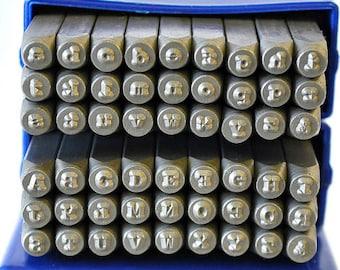 2 MM Typewriter Font Combo Set Upper, Lower Metal Alphabet Set-Metal Stamping-Supplies to Make Personalized Jewelry