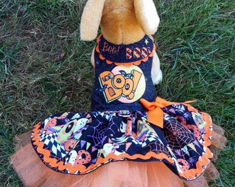 Halloween Harness-Dress for Small dog, Boo.