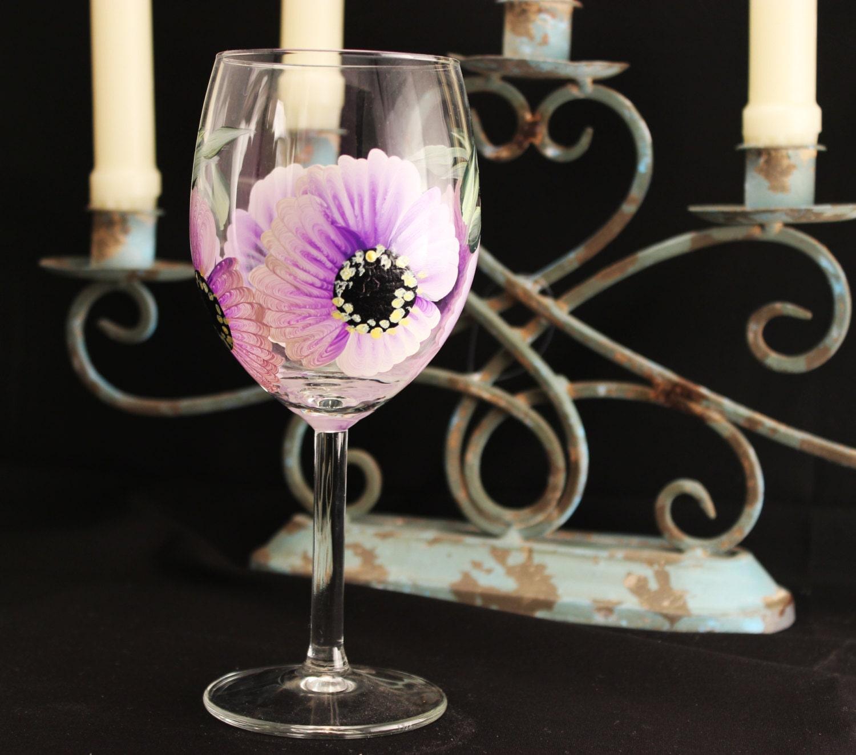 Custom Painted Hand Painted Wine Glass Stemware 1 Hand