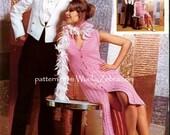 Vintage Crochet PDF Pattern 039 Pink Button Through Dress from WonkyZebra