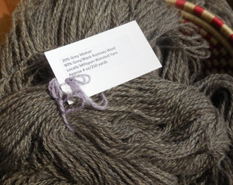 Farm Fresh 80/20 Romney Wool and Mohair Worsted Weight Yarn, approx 4 oz/250 yards