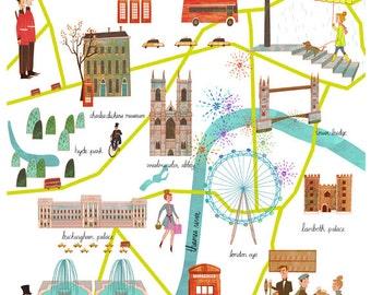 8 x 10 London Map