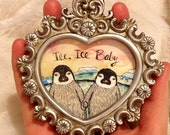 Ice Ice Baby Original mini painting framed
