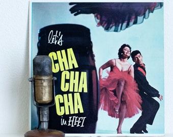 "Cha Cha Cha Vinyl Record Album 1950s Mid-Century Dance Romantic Tito Morano, ""Let's Cha Cha Cha in Hi-Fi""(1958 Somerset) Vintage"