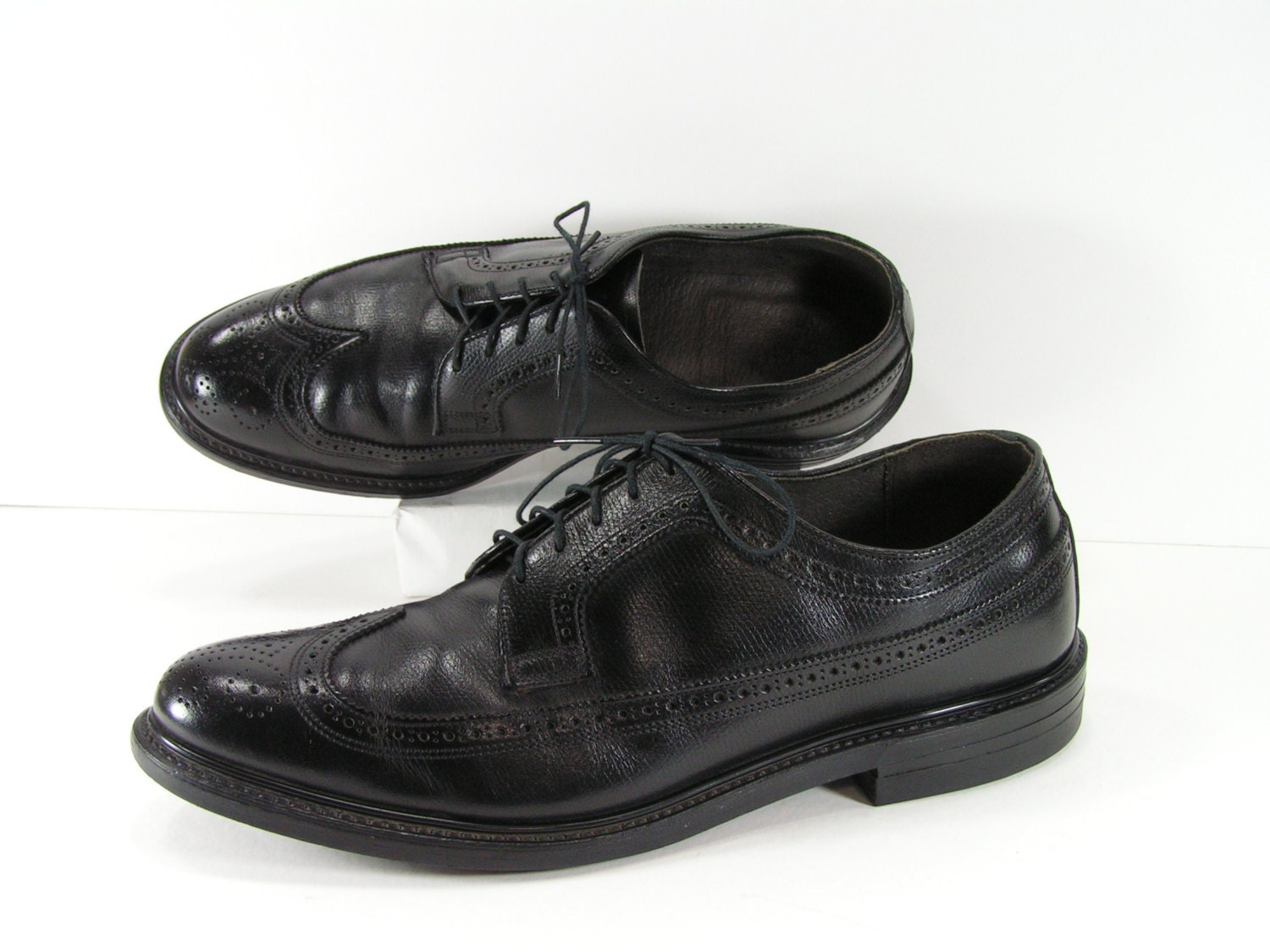 wingtip dress shoes mens 11 d black oxford brogue leather