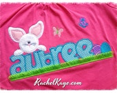 Girls Easter appliqué shirt custom made and personalized with your child's name