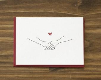 holding hands valentine