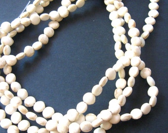 Natural Magnesite, Coin Beads, Necklace Designs, Jewelry Making Beads, Craft Supplies, Bead Supplies, Jewelry Design,  Full Strand 16""