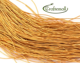 """BeadSmith French Wire - Fine 0.7mm - Gold - 14"""""""