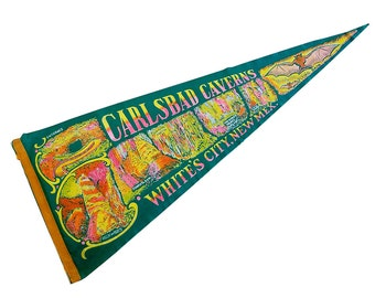 Large Carlsbad Caverns Souvenir Pennant - Kitschy Cool Road Trip Fun