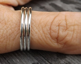 Sterling Silver Stacking Rings, Modern Stacking Rings, Minimalist Stacking Rings on Etsy. Rings