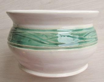 Pottery Bowl Ceramic Planter Serving Dish Ceramic Pottery Flower Pot Stoneware Dish Handmade Stoneware Ceramics  Turquoise Green
