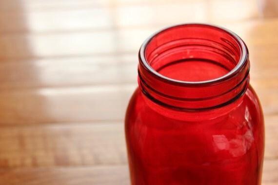 Red Mason Jars Jar Hanging Lanterns Colored Glass Jars Wedding