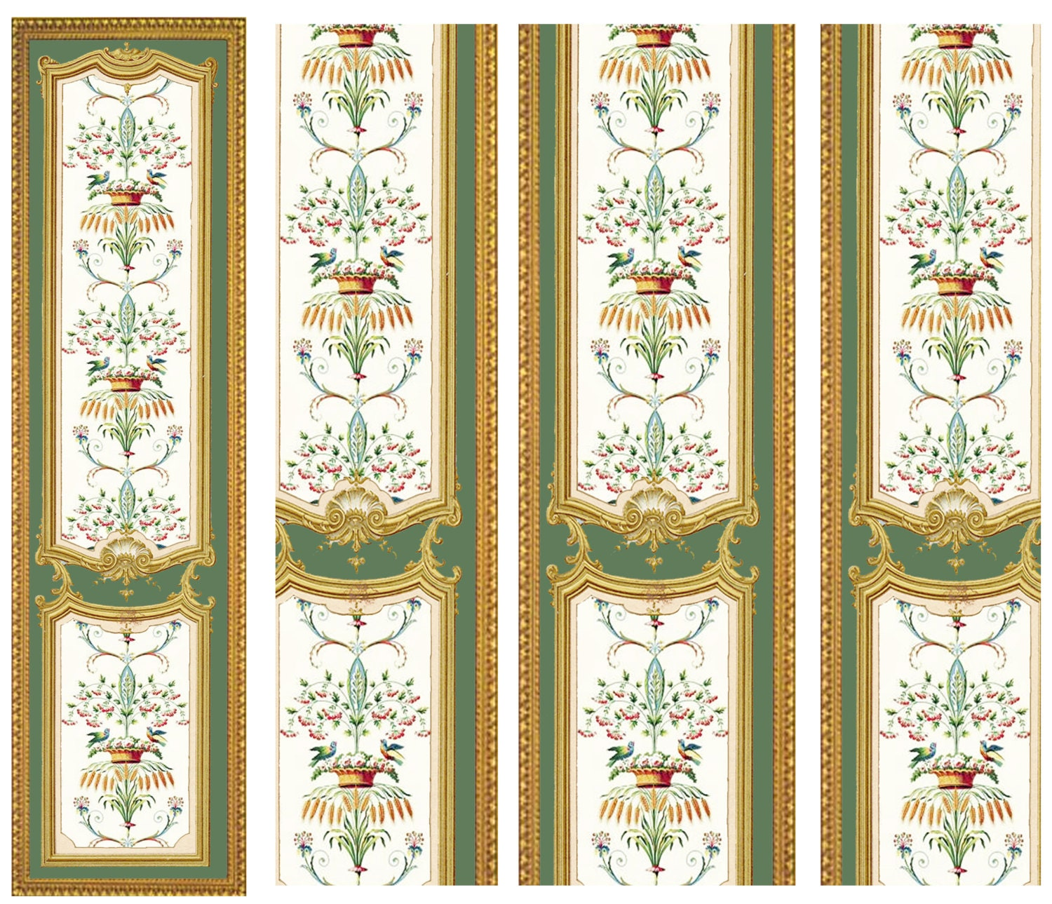 Victorian Wall Panels Wallpaper 1 12th Or 1 24th Scale 14