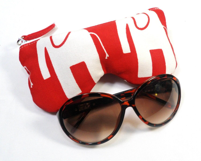white elephant eyeglass sunglasses pouch