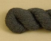 Semi Solid Black - Hand Dyed Fingering Sock Weight Yarn - Superwash Merino Bamboo Nylon Blend