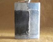 SALE Flask Retro Patchwork Denim Print Stainless Steel Gift Hip Flask 8 Ounces KR2D7464