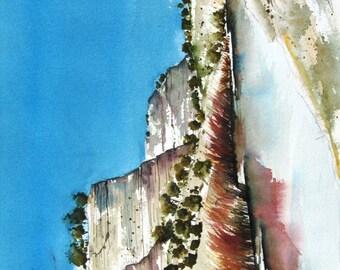 Canyonlands Along The Rio Grande - Original Watercolor Painting
