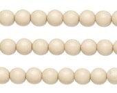 Wood Round  Beads Natural 8mm 16 Inch Strand