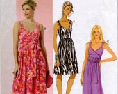 Misses' Wrapped Front and Regular Bodice Dress Sewing Pattern - Butterick 5486 - Size 18