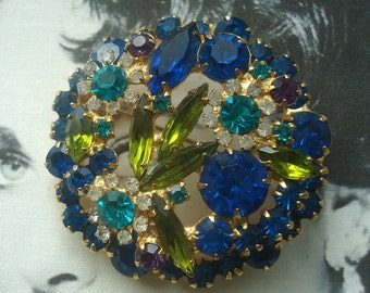 DeLizza and Elster a/k/a Juliana Bold Flower Design Large Tiered Brooch